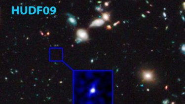 Astronomers using the Hubble Space Telescope have disovered the most distant galaxy seen. It existed 480 million years after the Big Bang.