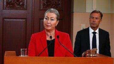 Head of the Norwegian Nobel peace prize Kaci Kullmann Five announces the winner.