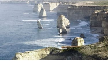 Artists Impression of Proposed Beam Lookout at Twelve Apostles in Victoria