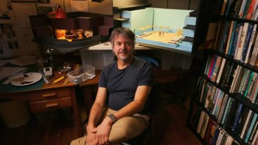 Dale Ferguson in his home studio.
