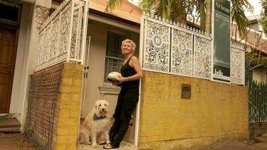 Mel Koutchavlis outside her investment property in Redfern.