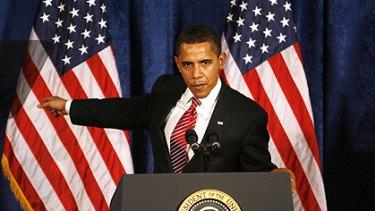 President Barack Obama on the attack in Williamsburg.