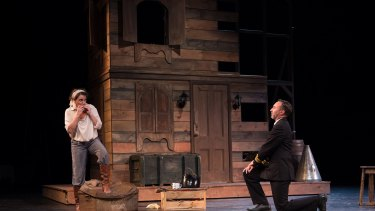 Jokes come thick and fast: Taming of the Shrew actors Danielle King and James Lugton.