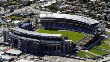 Too much damage . . . AMI Stadium in Christchurch will not host any games at the Rugby World Cup.