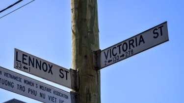 The corner of Lennox and Victoria streets in north Richmond.