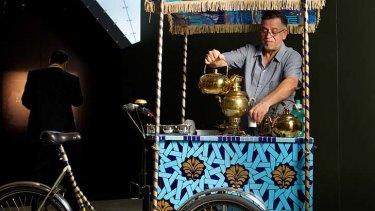 Aslam Akram's Afghan tea cart features at Melbourne Museum.