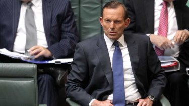 Determined: Prime Minister Tony Abbott declared that his government will not rest until the carbon tax is abolished.