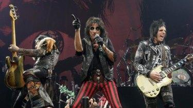 Rock veteran Alice Cooper rules the stage at Rod Laver Arena in Melbourne.