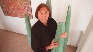 Primal inspiration: Marea Gazzard in her studio in 1997. She was a tireless promoter of crafts.