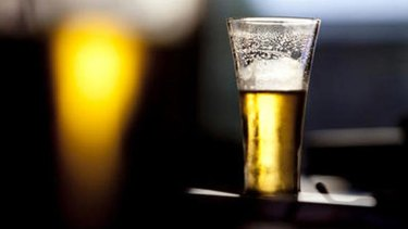 Half empty ... draft beer could soon run out in Denmark.