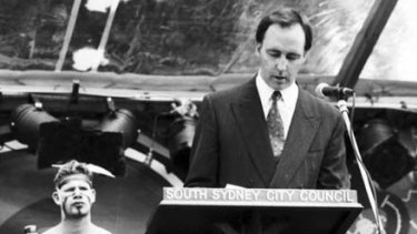 Paul Keating delivers a speech in Redfern to mark the International Year of  Indigenous People.