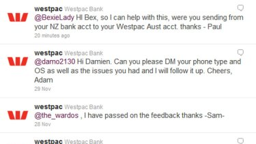 Bank customer service, Twitter style.