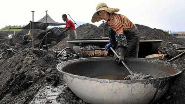 Coal starts to lose favour in China.