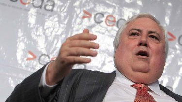 Clive Palmer accuses the state government, Labor Party and QR National of damaging his legal and commercial rights.