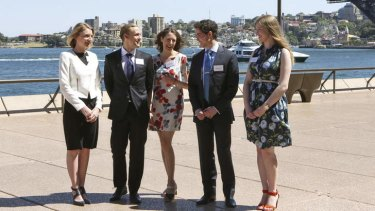 Designing the future: (from left) Laura Craft, Robert Martin, Jennifer McMaster, Matthew Wells and Olivia Savio-Matev are the first participants in the MADE by the Opera House Australia-Denmark exchange program.