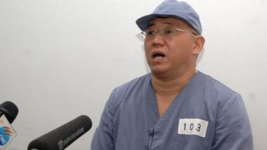 Kenneth Bae, a Korean-American Christian missionary who has been detained in North Korea for more than a year, appears before a limited number of media outlets in Pyongyang.