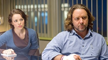 Beefing down ... a chunkier Russell Crowe appears with Rachel McAdams in State of Play