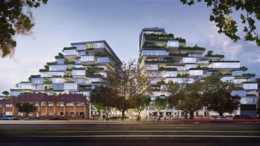 The original 16-storey proposal for 26-56 Queens Parade is being re-worked