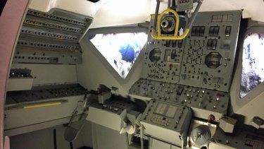 Lunar Module cockpit trainer.