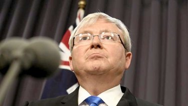 Prime Minister Kevin Rudd announcing a $450 million plan for more out-of-school care.