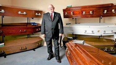 Grave concerns: Master funeral director Warwick Hansen, the regional manager of Hansen & Cole Funerals.