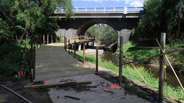 One of the bridges over Darebin Creek.