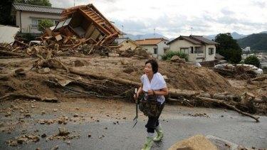 Torrential rain triggered  deadly landslides in the city.