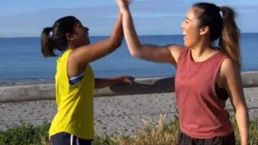 A missed high five was the only awkward moment for Debra and Eva.