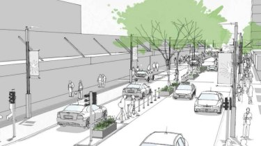 An artists impression of the new Rokeby Road streetscape.