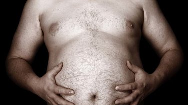 The bulge ... 55 per cent of men are classed as overweight or obese.