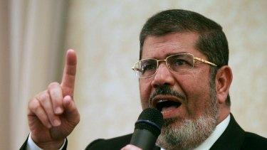 Deposed Egyptian president Mohamed Mursi.