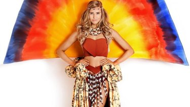 Caitlin Holstock's winning Miss Universe Australia national costume, which Tegan Martin will wear to the international final.