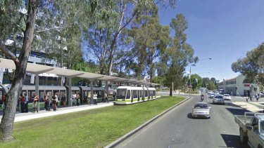 Artist's impression of the City interchange for the proposed Canberra light rail.