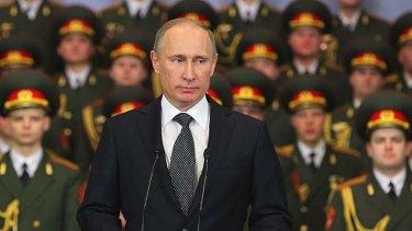 Arming up: Russian President Vladimir Putin is spending big on new military equipment.