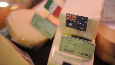 Australian cheese is becoming a more common sight in China.