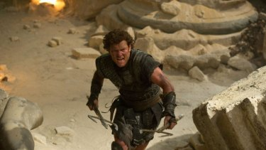 Sam Worthington as Perseus in <i>Wrath of the Titans</i>.