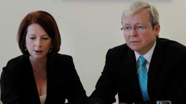 Julia Gillard and former Prime Minister Kevin Rudd.