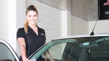 Maddison Lawrence runs an auto detailing business.