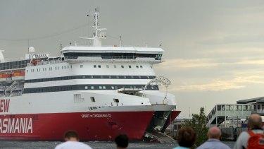 Damage to the hull of The Spirit of Tasmania