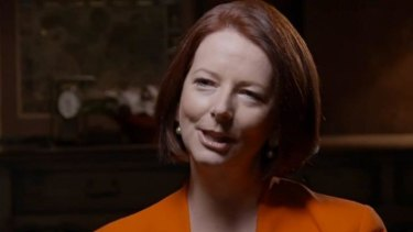 Julia Gillard says she went out of her way to prop up Kevin Rudd when he was prime minister.