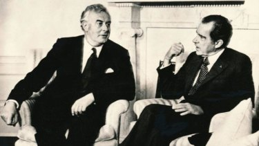 Australian Prime Minister Gough Whitlam and US President Richard Nixon, 1973.