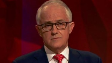 Prime Minister Malcolm Turnbull on the ABC's Q&A program.