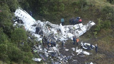 All but three players for Chapecoense were killed when their charter plane crashed into the side of a mountain.