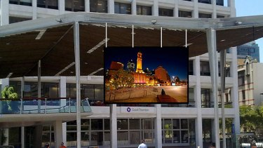 A digitally rendered image of the proposed LCD screen in King George Square.