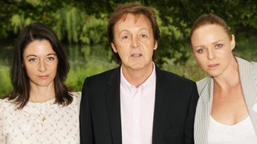 Mary (left), Paul and Stella McCartney are behind a new cookbook.