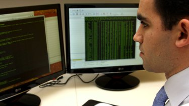 White hat: a senior security consultant at Pure Hacking at work.