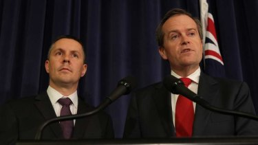 Shadow spokesman on the environment Mark Butler and Opposition Leader Bill Shorten announce Labor is standing firm in backing a price on carbon.