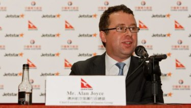 Qantas boss Alan Joyce at the inception of the alliance with China Eastern Airlines. Executives of the Chinese carrier flew to Sydney last month to expand the relationship.