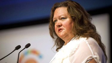 A helping hand: The US government agency is helping to fund Gina Rinehart's Roy Hill project.