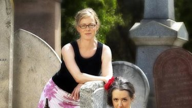 Saucy and dark ... Marieke Hardy and Kirsty Fisher co-creators of new ABC comedy Laid.